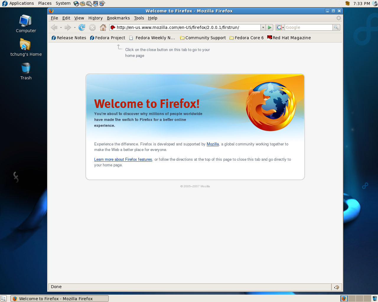 226934 – Update bookmarks for Fedora 7